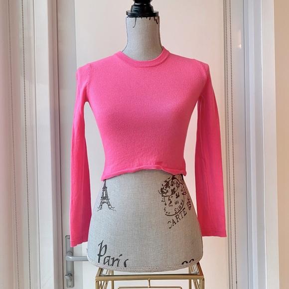ARITZIA Babaton Hot Pink Nathaniel Sweater